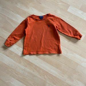 Polo Ralph Lauren Boys Orange Long Sleeve Tee 2T